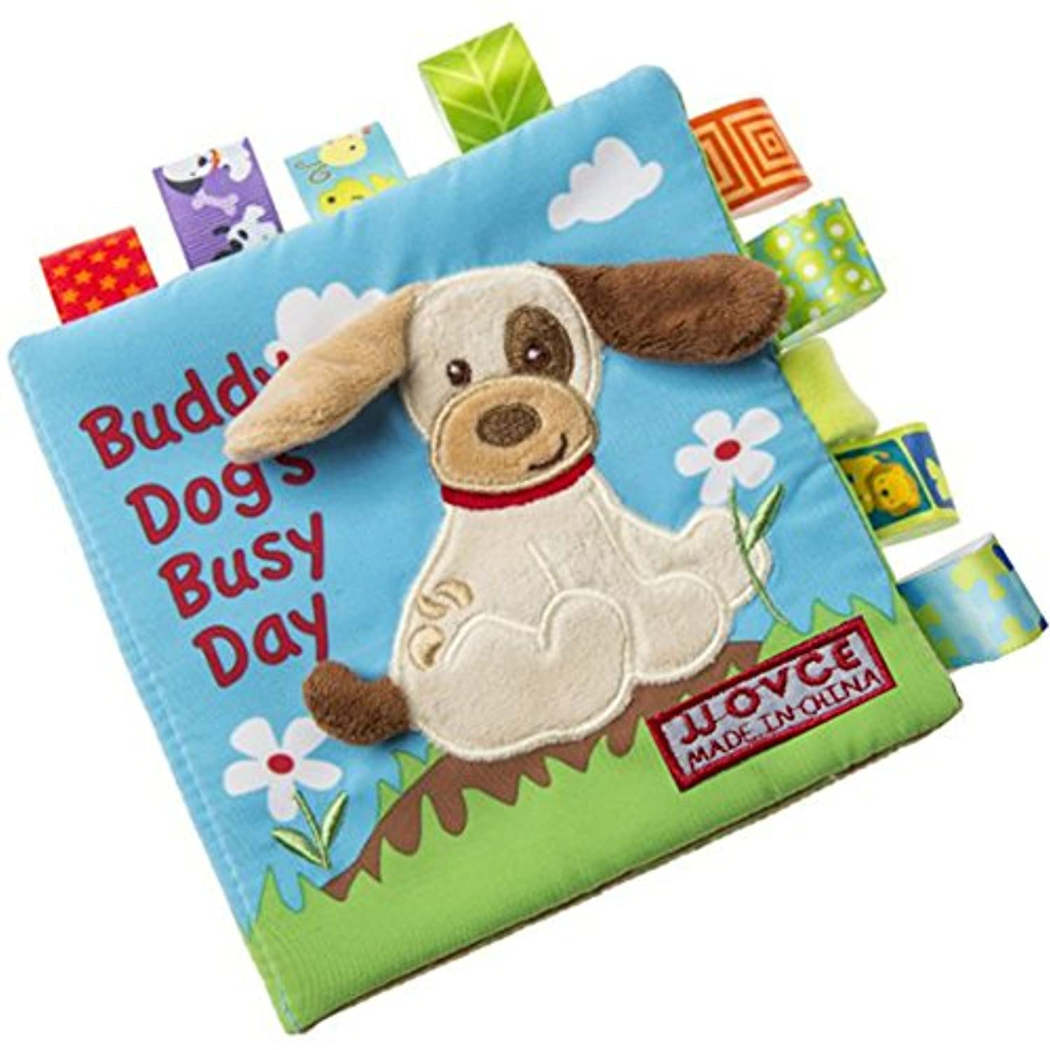 (Specification:puppy) - Qiyun Cloth book Colourful Baby Animal Soft Cloth Book Infant Kid Intelligence Development Learn Animals Shapes Bed Cognize Books Educational Toy Giftspecification:Puppy
