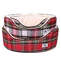 HOMESTAYDD ペット犬のベッドスーパーソフトぬいぐるみ素材犬小屋暖かくて快適な子猫子犬クッションソファクッション (カラー : レッド, サイズ : M)