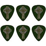 セルティッククリスチャンクロスアイルランドアイルランドノベルティギターピックミディアムゲージ - 6点セット