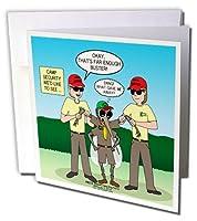 リッチDiesslinノットScout Cartoons–Campセキュリティ–Mosquito Patrol–Greeting cards-6グリーティングカード封筒付き(GC _ 221210_ 1)