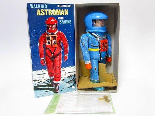 ブリキ玩具 アストロマン ブルー 復刻版 大阪ブリキ 2001年宇宙の旅 野村トーイ おもちゃ