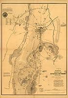 1863のバトルフィールドマップElliottのマップのゲティスバーグ、ペンシルベニア州–サイズ: 16x 24–する準備フレーム