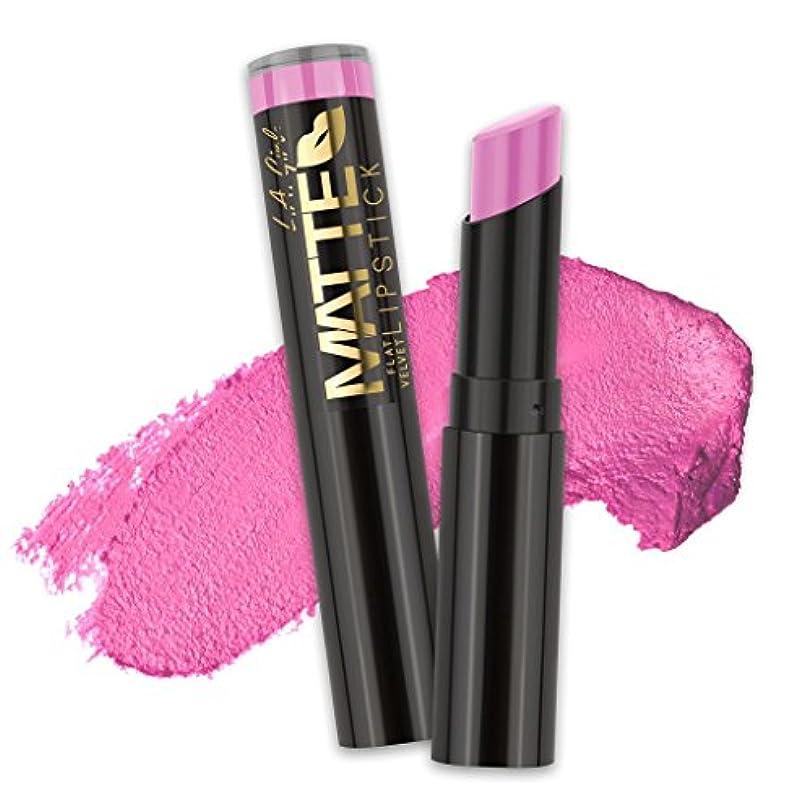 してはいけませんドック軽蔑するL.A. GIRL Matte Flat Velvet Lipstick Dare to Date (並行輸入品)