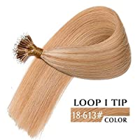 ベットヘア100ストランドブラジルレミーナノループIチップ100%人毛エクステンション8A 50グラム(24インチ18-613#)
