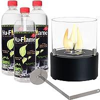 Sunnydaze Tre Poli Tabletopバイオエタノール暖炉–Chooseオプション With Fuel ブラック YL-178-BIO