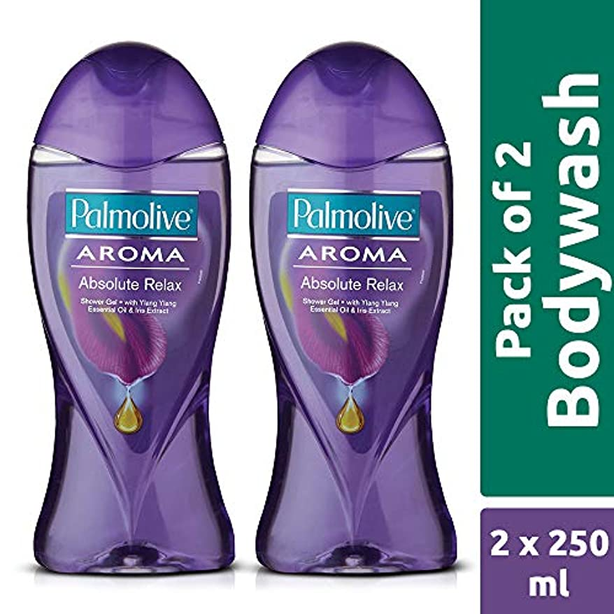 ディベート比較的太陽Palmolive Bodywash Aroma Absolute Relax Shower Gel - 250ml (Pack of 2)