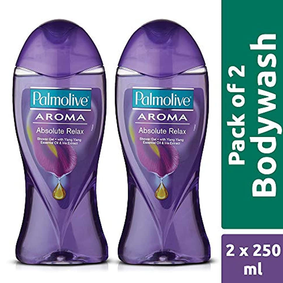 寺院強調する無Palmolive Bodywash Aroma Absolute Relax Shower Gel - 250ml (Pack of 2)