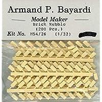 Armand P. Bayardi 1:32 1:35 54mm レンガルーブル 200個 樹脂製ジオラマ #M54/26