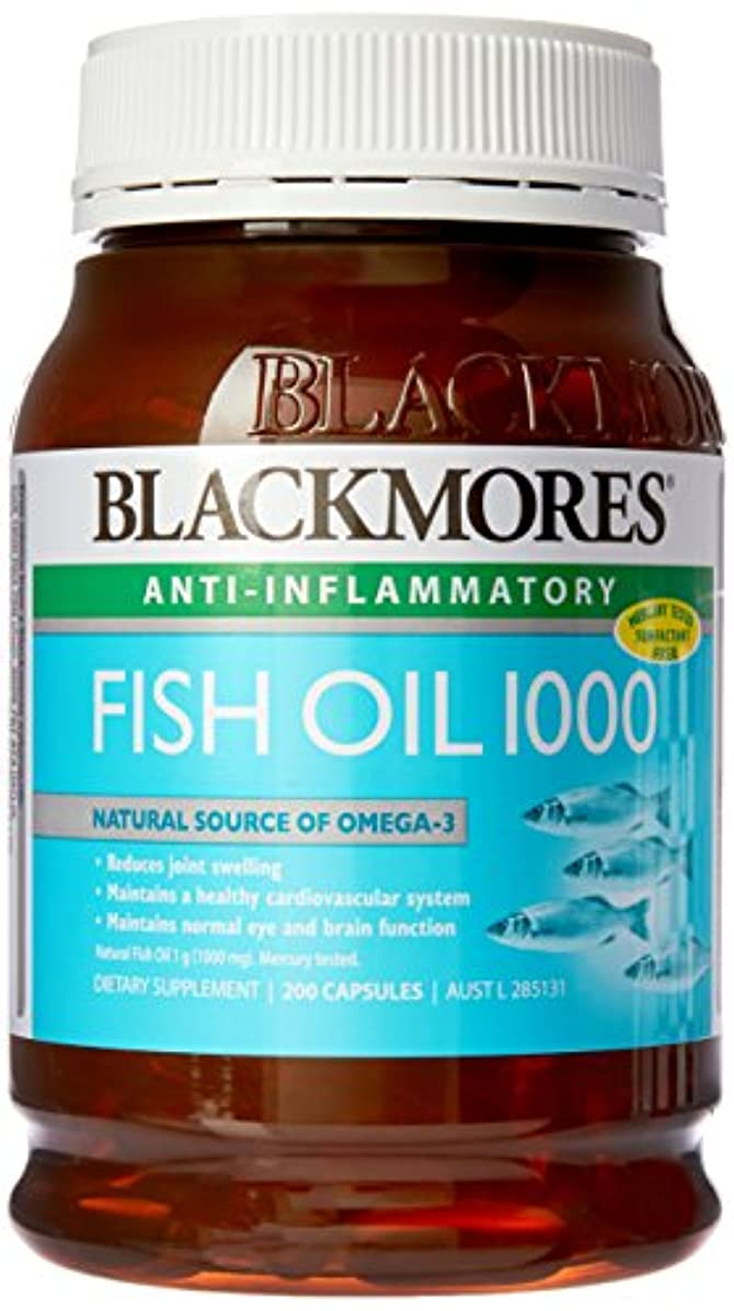 スリップ肌類似性[BLACKMORES] フィッシュオイル 1000 (FISH OIL 1000) 200粒 [海外直送品]