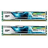 シリコンパワー デスクトップPC用 メモリ ヒートシンク付 240Pin DIMM DDR3-1866 (PC3-12800) 8GB×2枚 1.5V CL13 (無期限保証) SP016GBLTU186ND2