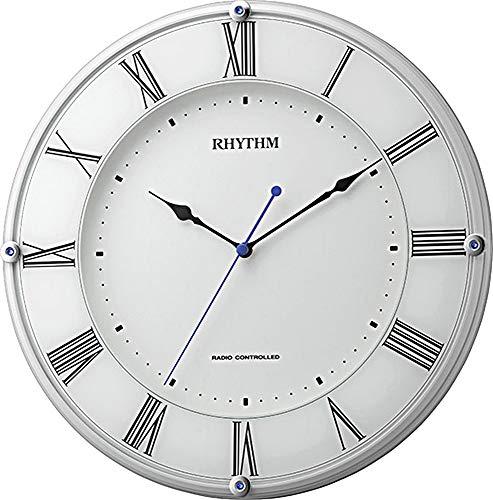 掛け時計 電波時計 連続秒針 ミレディア 白 リズム時計 8MY503SR03