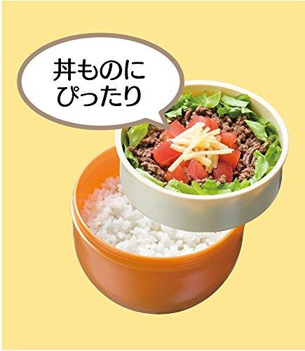 カフェ丼 ランチボックス 560ml  巾着付 弁当箱 てまりうさぎ 朱 KPDN6
