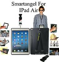 iPad Air TPUケースのDuo手とネックストラップ–ブラック