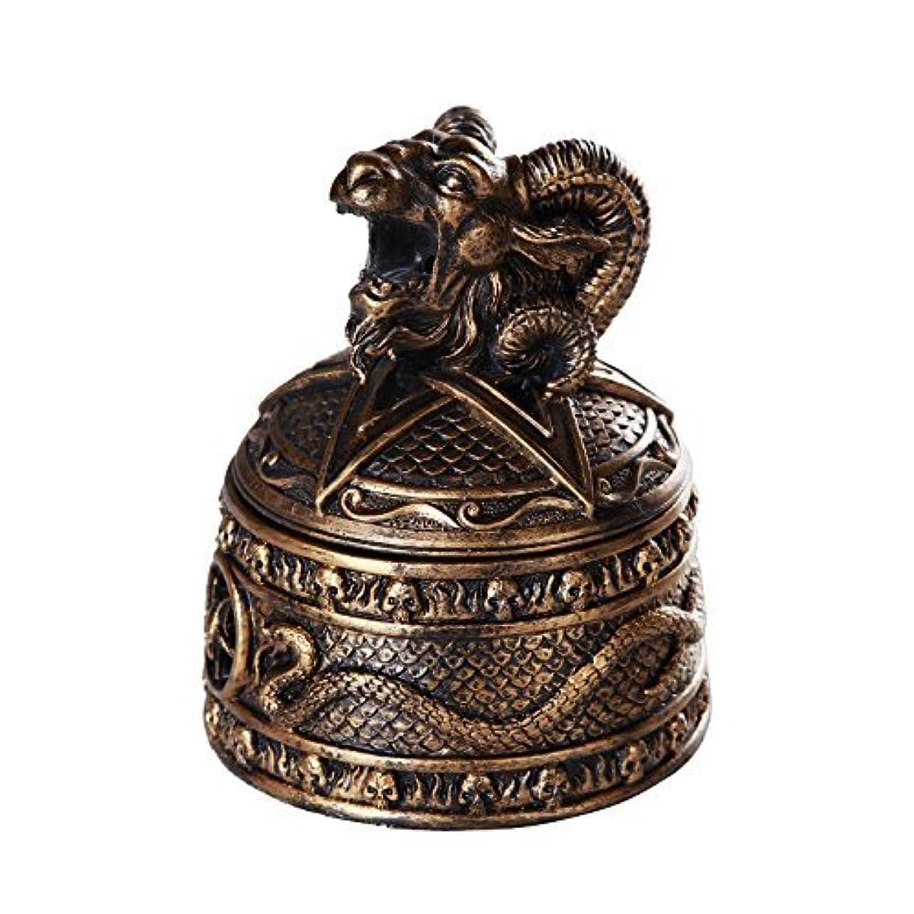 南東好意的ブッシュバフォメットHorned Sabbatic Goat解決et Coagula Cone Incense Burnerボックス