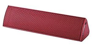 ELECOM Bluetoothスピーカー コンパクト NFC対応 apt-X対応 3W+3W レッド LBT-SPP300AVRD