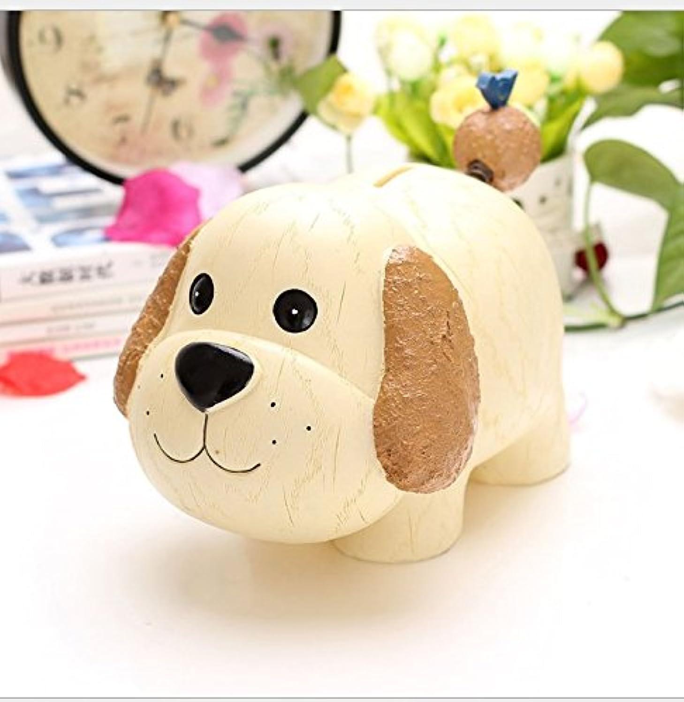 マネー バンク 創造的な子供のギフト樹脂製手帳ピギーバンクスーパーラブリー動物ピギーバンク(犬)