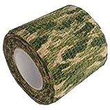 MIRAIS 自着式 再利用可能 カモフラージュテープ 伸縮 迷彩 偽装 布製 サバゲー バードウォッチング カスタム (03草原迷彩) MR-CAMOTAPE-ME03
