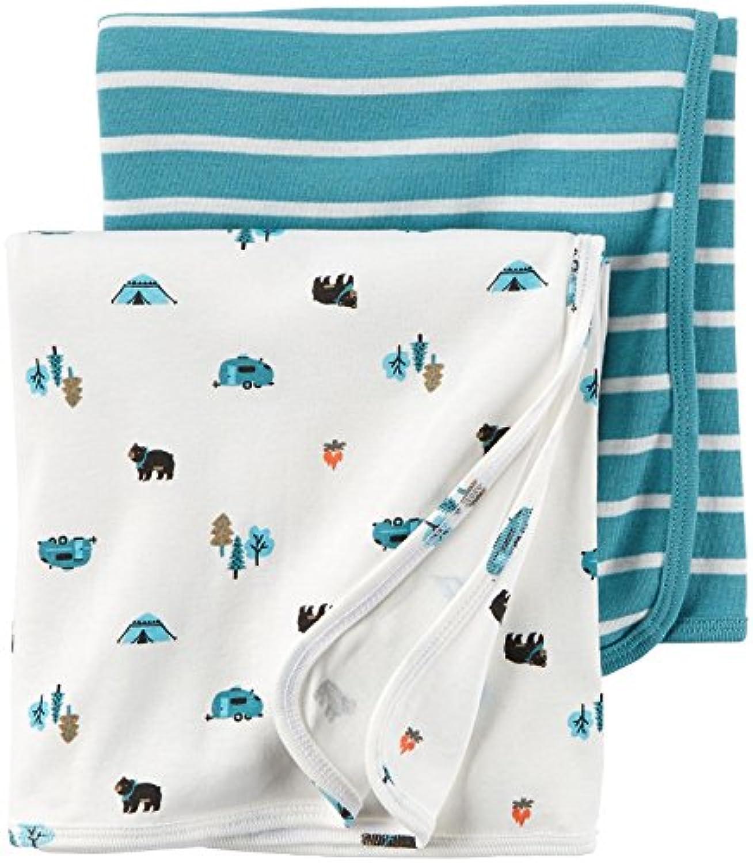 [カーターズ]Carter's Babysoft Swaddle Blankets Turquoise 2 ct 126G297 [並行輸入品]