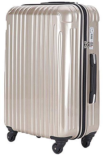 TY001小型(ラッキーパンダ) Luckypanda スーツケース 機内持込 軽量 ファスナー TSAロック 2年修理保証 TY001 ハード キャリーバッグ キャリーケース キャリーバック 1泊 トランクケース 旅行カバン 超軽量 sサイズ Suitcase Luggage amazon(Sサイズ(2~3日の旅行向け), シャンパンゴールド)