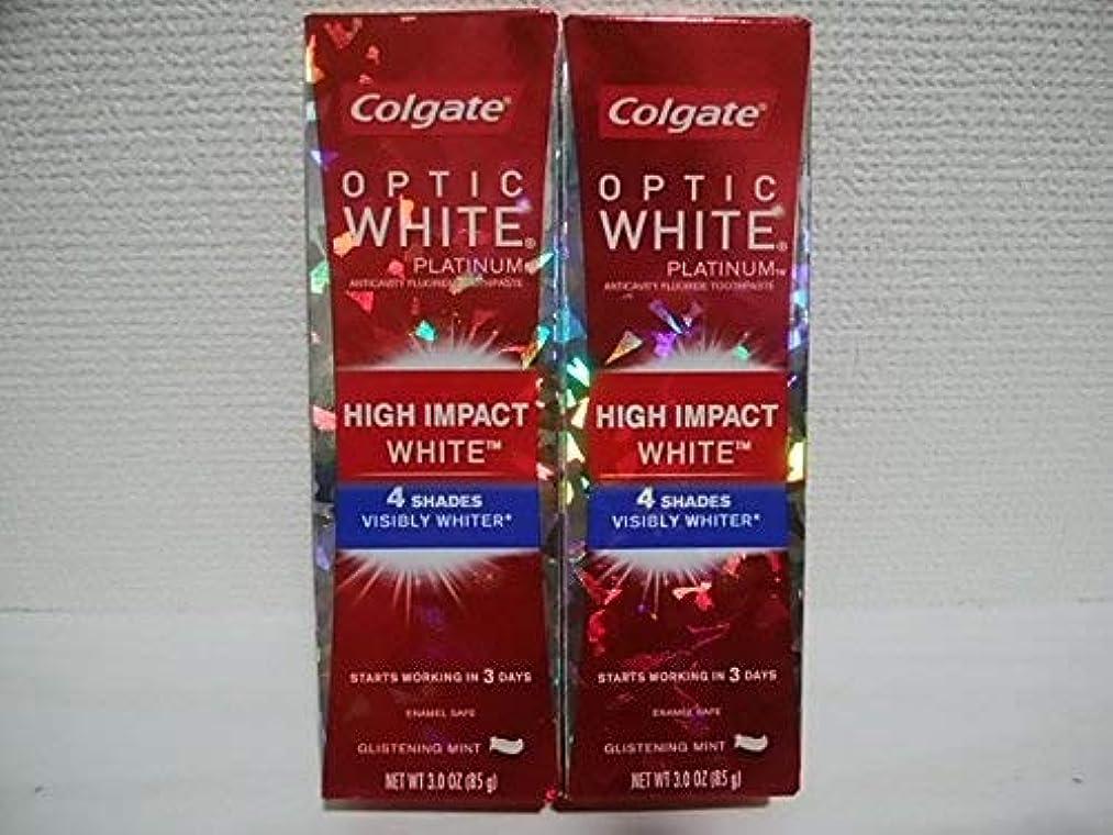 怠惰アメリカColgate Optic White High Impact White 3oz 85g 歯磨き粉 3個セット [並行輸入品] h%v