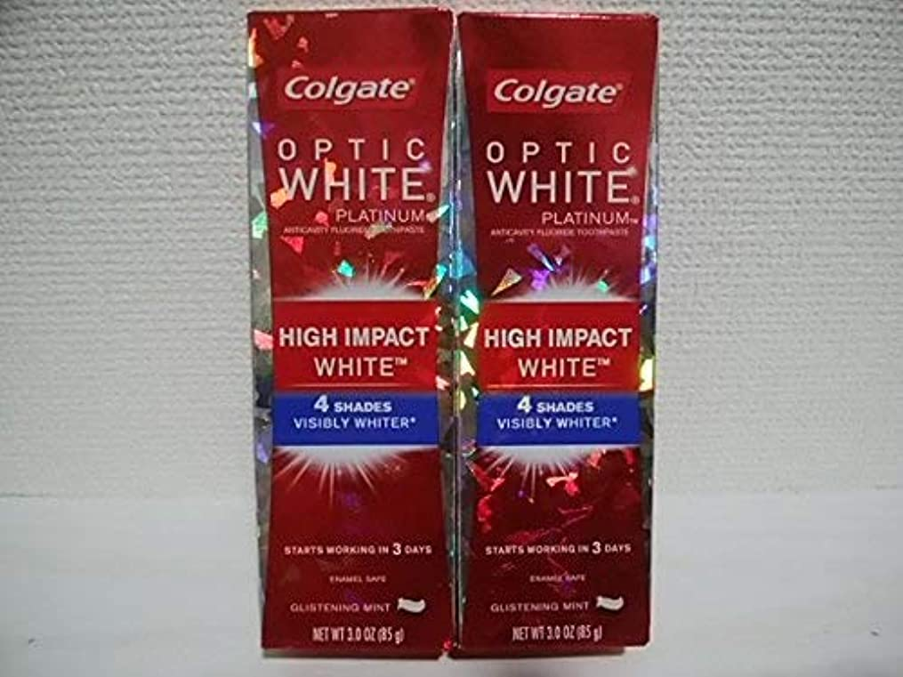 サーバント体現する詳細にColgate Optic White High Impact White 3oz 85g 歯磨き粉 3個セット [並行輸入品] h%v