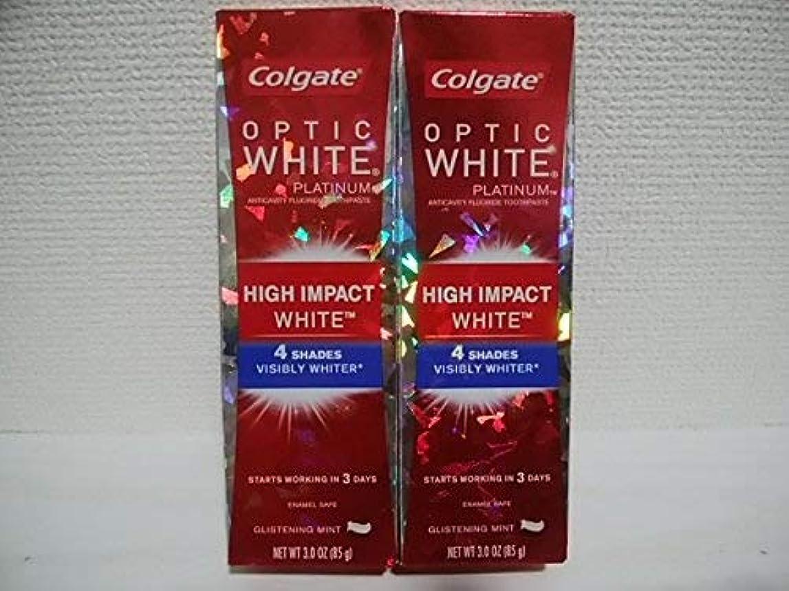 感謝祭全体にアサーColgate Optic White High Impact White 3oz 85g 歯磨き粉 3個セット [並行輸入品] h%v