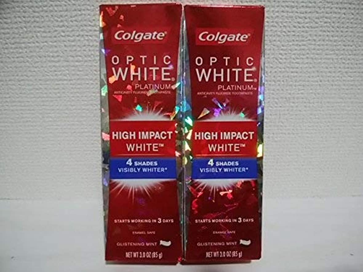 Colgate Optic White High Impact White 3oz 85g 歯磨き粉 6個セット [並行輸入品]