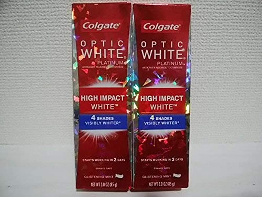 Colgate Optic White High Impact White 3oz 85g 歯磨き粉 6個セット [並行輸入品] dw#v