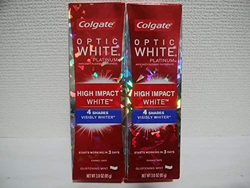 医薬品ハンマー口径Colgate Optic White High Impact White 3oz 85g 歯磨き粉 3個セット [並行輸入品] h%v