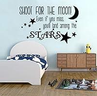 Ansyny 月面壁用シール保育園の装飾星ビニールウォールステッカーベイビースウィートドリームウォール壁画グッドスリープビニールデカール57×36センチ