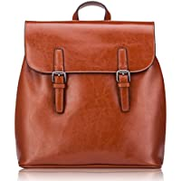 Women' s Small Genuine Leather Backpack Travelling School Satchel Bag Casual Daypack With Vintage Design