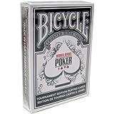 自転車WSOPプラスチックコーティングされたトランプ - 1ブラックデッキポーカーサイズレギュラーインデックス Bicycle WSOP Plastic Coated Playing Cards - 1 Black Deck Poker Size Regular Index