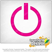 電源オフ - オン/オフスイッチ Power Off - On / Off switch 10cm x 9cm 15色 - ネオン+クロム! ステッカービニールオートバイ