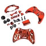 【ノーブランド品】Xbox 360用 コントローラカバー ケース 交換用 保護カバー 全7色 赤
