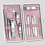 爪切り15個セット 15PCS爪切りセット 爪修理ツールセット マニキュアツール(ステンレス製)