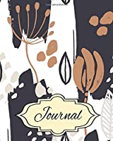Journal: Floral Writing Journal, Diary and Notebook for Personal Thoughts, Ideas and Observations - 8x10 - 260 Lined Journal Pages