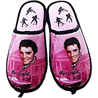 Midsouth Products Elvis Presley Slippers Pink W/Guitars - One Size Fits Most
