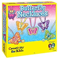 Creativity for Kids Butterfly Necklaces - Children's Jewelry Making Craft Kit - Makes 6 Necklaces [並行輸入品]