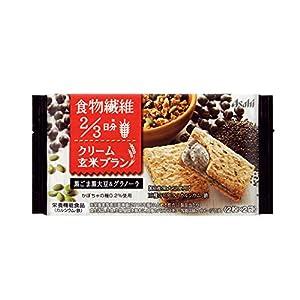 アサヒグループ食品 クリーム玄米ブラン 黒ごま黒大豆&グラノーラ 72g(2枚×2袋)×6袋