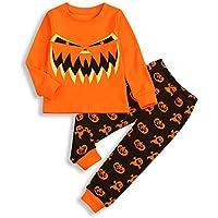 SEVEN YOUNG Toddler Baby Boys Long Sleeve Shirt+Pumpkin Pants Outfit 2Pcs Summer Autumn Clothes