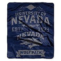NCAA ネバダ Reno Wolfpackラベル スロー ラッセル生地 フラシ天 50インチx 60インチ