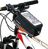 ArcEnCiel 自転車トップチューブバッグ サイクリングフレームバッグ 5.5インチスマホ対応