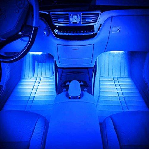 車載 LED装飾ライト 36LED 高輝度 車内フロア フッ...