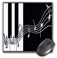 3droseシルバーMusic Notes onピアノキーマウスパッド( MP _ 18762_ 1)