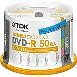 TDK 録画用DVD-R デジタル放送録画対応(CPRM) 1回録画用 1-16倍速 インデックス・ディスクシリーズ 50枚スピンドル DR120DTC50PA