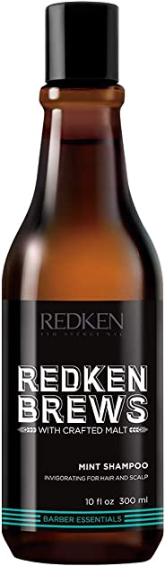 Redken Brews Mint Shampoo for Men, 300 Milliliter