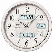 CASIO (カシオ) 掛け時計 WAVE CEPTOR ウェーブセプター 電波時計 温度表示 湿度表示 ICL-600J-7JF