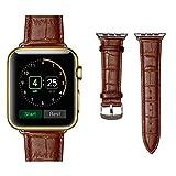 (ミーモール) Miimall Apple Watch Band 38mm レザー皮革 高?アップル ウオッチ バンド 本 革 ベルト 留め金アップル ウォッチ バンド