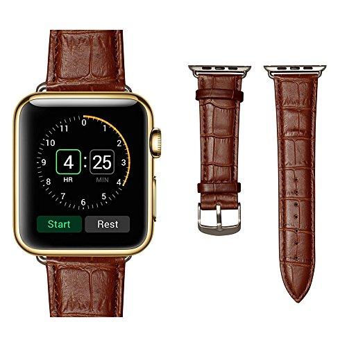 (ミーモール)Miimall Apple Watch Band 38mm レザー皮革 高?アップル ウオッチ バンド 本 革 ベルト 留め金アップル ウォッチ バンド