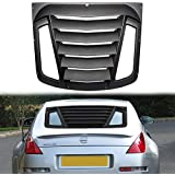 Danti Rear Window Louvers Sun Shade Cover in GT Lambo Style for for 2003-2008 Nissan 350Z